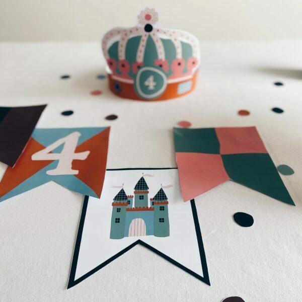 kit déco anniversaire chevalier princesse