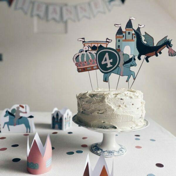 déco anniversaire chevaliers princesses à imprimer